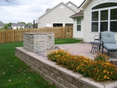 Paver Patio Hardscape Deck with water feature