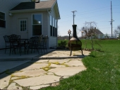 Custom flagstone patio dayton ohio