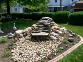 Dayton Ohio Custom water feature installation