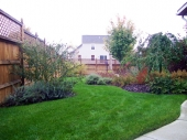 Backyard landscaping garden Dayton Ohio