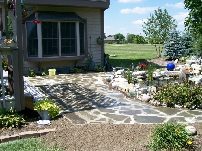 ... Dayton Ohio Custom garden with hardscape patio ... - Residential Portfolio, Whispering Creek Landscaping The Premier