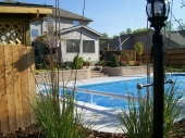 Custom hardscape pool surround Dayton Ohio