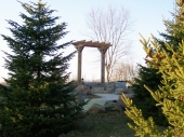 Custom Pergola with paver walkway