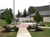 Dayton Ohio Commercial Landscaping with custom hardscape