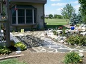 Dayton Ohio Custom garden with hardscape patio