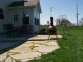 Custom flagstone patio dayton ohio