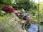 Custom garden with water feature dayton ohio