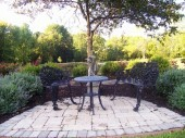Custom garden patio with pavers Dayton Ohio