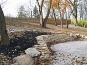 Custom paver hardscape with fieldstone retaining wall dayton ohio