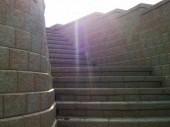 Custom Hardscape stairs with retaining wall dayton ohio