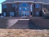 Landscape grading with retaining wall dayton ohio